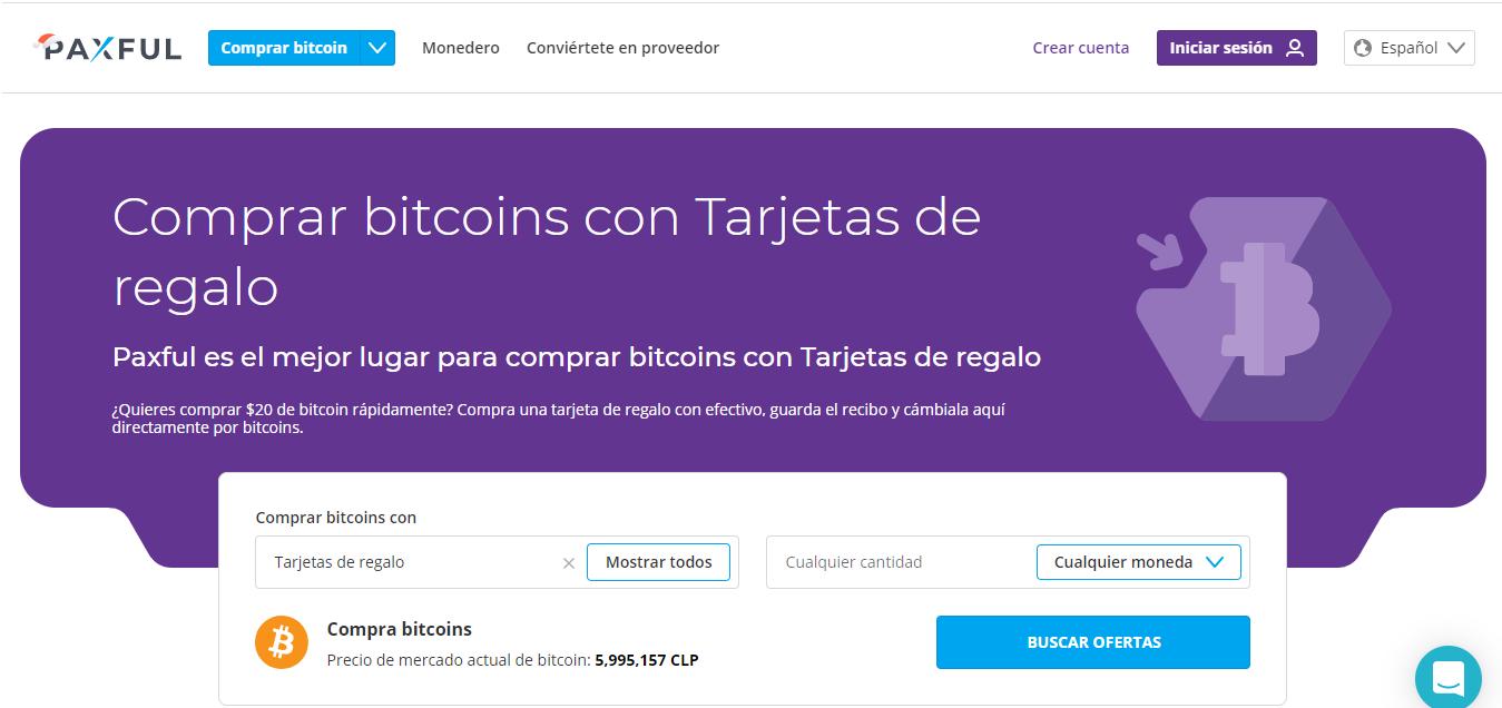 Cambiar gift cards por Bitcoin