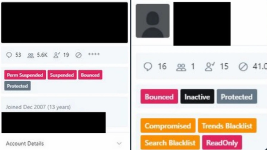 Captura de pantalla mostrada por un trabajador de Twitter en un tuit ya borrado. Fuente: Motherboard.