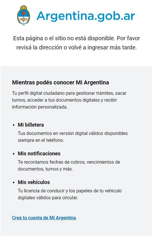 Contenido sobre Bitcoin retirado de la página web del Gobierno de Argentina. Imagen de www.argentina.gob.ar