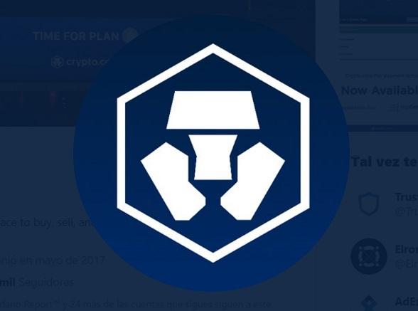 Crypto.com logo. Imagen extraída de Twitter