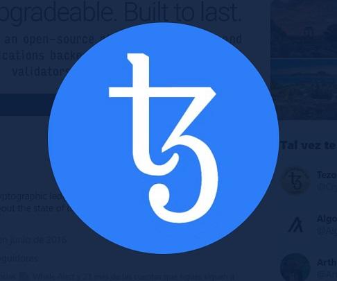Logo de Tezos. Imagen extraída de Twitter