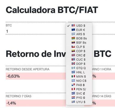 calculadora diariobitcoin