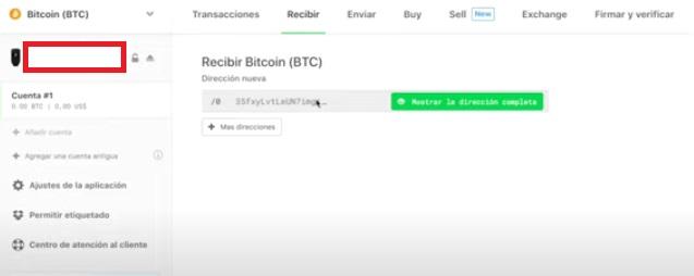 Seleccionando la moneda con la cual deseamos hacer transacciones. Imagen de Trezor.io