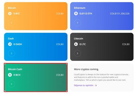 Monedero para Bitcoin Cash ya disponible en LocalCryptos